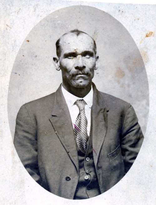 Alonzo Bass (1859-1941). Son of William Hardy Bass and Sarah Evans. Alonzo's Bass family is from Granville and he lived in neighboring Person, and Orange counties. He is from the same Bass family found in Walter Plecker's letter. Source: Ancestry, User:  randymaultsby